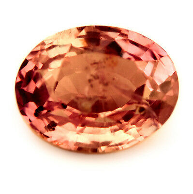 Outstanding Certified Natural Unheated 1.39ct Padparadscha Sapphire, Oval Cut