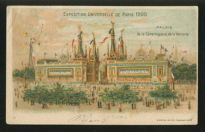 Exposition De Paris 1900 - Palais De La Ceramique -Viaggiata V.so Ardenza [A-76]