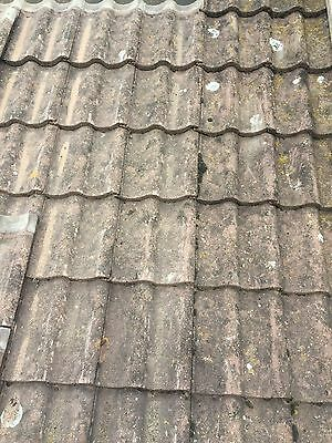 Reclaimed Corrugated Clay Roof Tiles 163 2 00 Picclick Uk