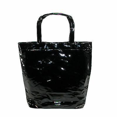 New CTM Women's Patent Tote Bag