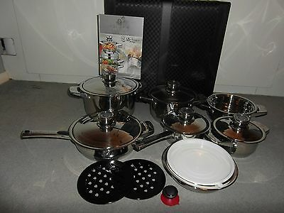 BACHMAYER SOLINGEN 16 Piece Saucepan Cookware Set With Luxury Case New