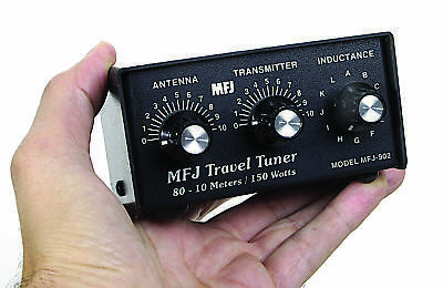 MFJ-902B 3.5-54MHz Mini Travel Tuner