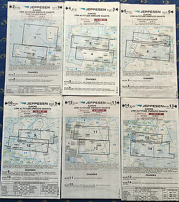CARTES AVIATION IFR Jeppesen Europe Low Altitude charts