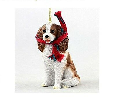 Adorable Cavalier King Charles Spaniel Dog Figurine Ornament