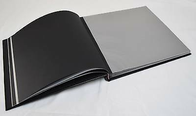 set of 4 Black Leather Dry Mount Photo Albums for Weddings, Photo Booth Business