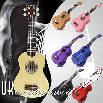 Beginners Ukulele Uke Soprano Musical Instrument Guitar 4 String Free Gig Bag