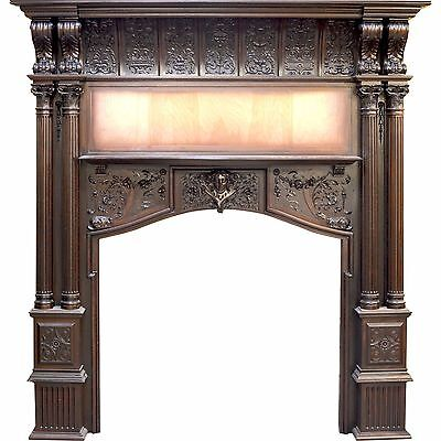 Herter Brothers Mahogany Fireplace Mantel for Jay Gould NYC Home
