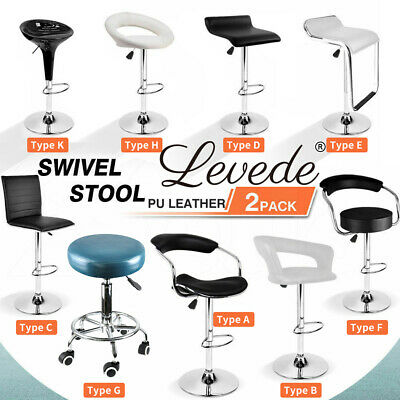 2x/ 4x PU Leather Swivel Bar Stools Kitchen Dining Chair Gas Lift Adjustable