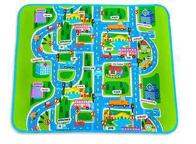 BABY Toddler Playpen Mat Play Mat in/out doors Car Track design