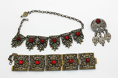 Ottoman,Islamic Set of jewelry-Bracelet, Brooch and Necklace 18th-19th century