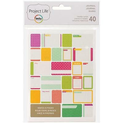 Becky Higgins Project Life Themed Cards - JOURNAL - Scrapbooking - 40 Cards