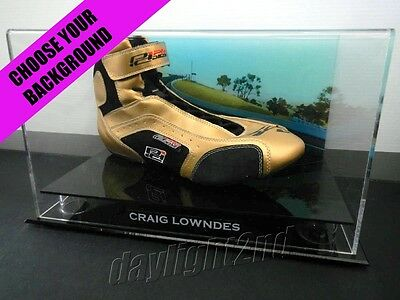 Signed CRAIG LOWNDES Racing Shoe PROOF COA V8 Supercars Holden Commodore 2017