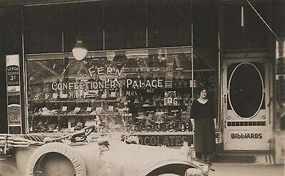 Fern Confectionary Palace Northcote VIC vintage photograph and postcard c1914