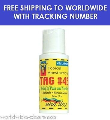 Topical Anesthetic Gel for Relief Numbing midway after PainTattoo 1oz TAG 45