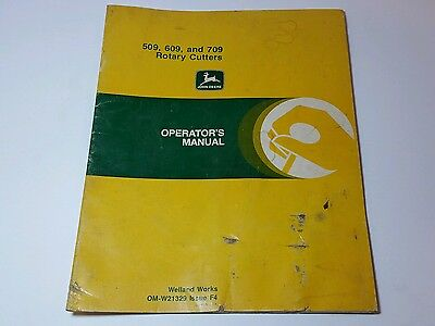 John Deere 509, 609, and 709 Rotary Cutters Operator's Manual  OM-W21329  F4