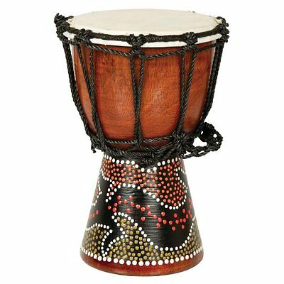 X8 Drums Mini Djembe Drum with Gecko Painted Design