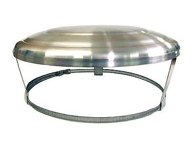 Chimney Pot Cap Capping Cowl Rain Aluminium Strap Fix unused chimney/vents