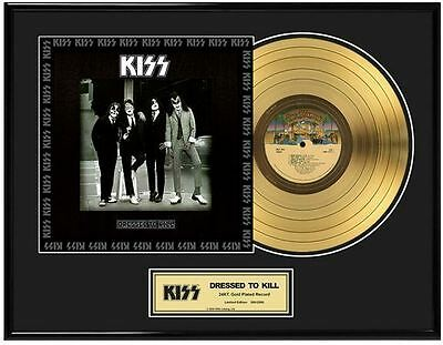 KISS Dressed To Kill Limited Ed. Framed 18X24 24KT Gold LP Collection/2500