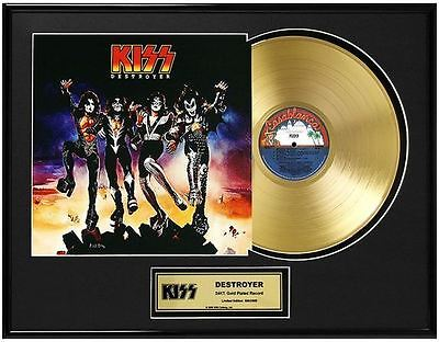 KISS Destroyer Limited Ed. Framed 18X24 24KT Gold LP Collection/2500