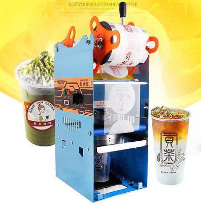 CE 270W 220V Electric Automatic Plastic Drink Tea Cups Sealer Sealing Machine