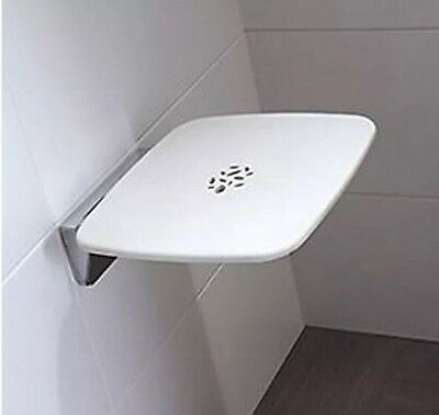 Mira Premium Folding Shower Seat 450mm Wall Mounted - Bathroom Mobility Aid
