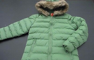 GIRLS RED/GREEN/CREAM/BLACK PADDED WARM FUR HOOD COAT AGE 7 to 13 BRAND NEW