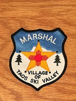 Defunct New Mexico Village of Taos Ski Valley Old Style Marshal Police Patch