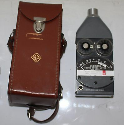 General Radio USA 1565-A  Sound Level Noise Meter Decibel Monitor with Case