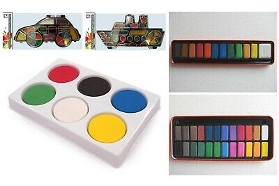 Watercolour painting set artist paints 12 or 24 colours with or without a brush
