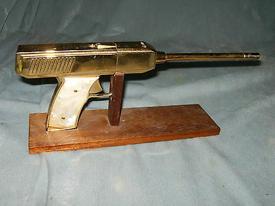 Table Top Golden Gun Lighter With Stand 1960's
