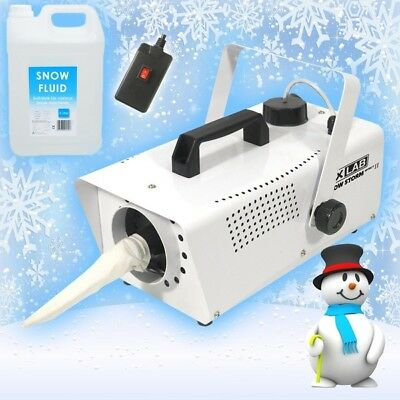 FXLab Snow Storm II Christmas Party Artificial Snow Machine with Fluid & Remote
