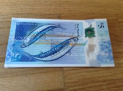 10 Royal Bank of Scotland New Polymer 5 Pound Notes Uncirculated Consecutive Nos