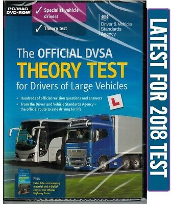 DVSA THEORY TEST DVD-ROM CD Q&A FOR LORRY AND BUS DRIVERS LGV / PCV / HGV LgvDV