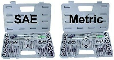 TAP AND DIE SET Both Metric and SAE 80 Pieces New