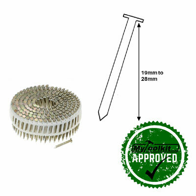 2.0 thickness flat galvanised ring plastic collated coil nails 19mm and 22mm