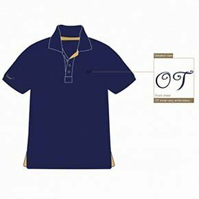 Townend Brucester Polo Shirt - Navy/Lipstick Red - Large - Horse Shirts
