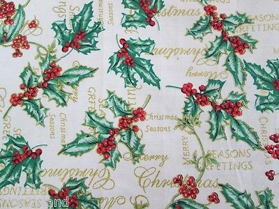 Holly Berry Christmas Blanket Baby Wrap 21x21 in 53x53 cm for My Twin Doll ADORA