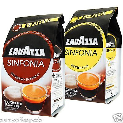 Lavazza Sinfonia Espresso & espresso Intenso Coffee pods for Senseo 2x16 pods