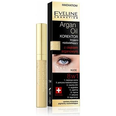 Eveline Eye Concealer with Argan Oil 8in1 Nude 7ml