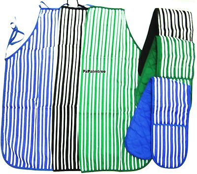 100% Cotton Quilted Double Oven Gloves Padded Kitchen Mitt Pot Holder Baking