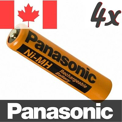 4 Pcs Panasonic NiMH AAA Rechargeable Battery for Cordless Phone. HHR-75AAAB