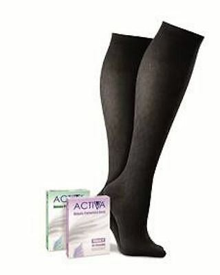 Activa Class 1 Below Knee Compression Hosiery, Black, Large