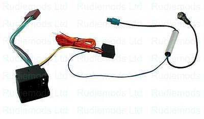 CT20VW03 Audi A4 2005 on Radio ISO wiring adaptor and Aerial Adaptor