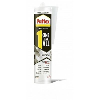 Colle Mastic Haute Qualite Flextec Polymere Invisible One For All Crystal Pattex