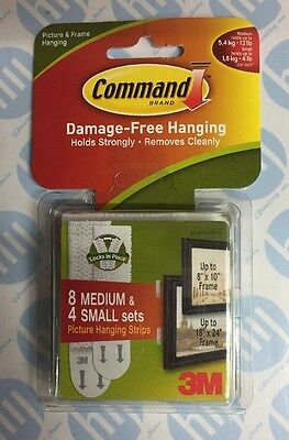 3M Command picture, frame & photo hanging strips value pack small & medium 17203