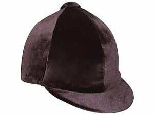 Hy Velvet Hat Cover - Black - Horse Equestrian Riding Hat Covers