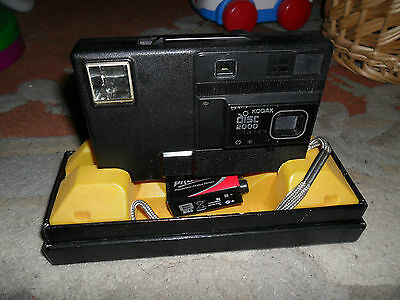NICE VINTAGE CLASSIC KODAK 2000 DISC CAMERA,Electronic Flash, Boxed,vgc.