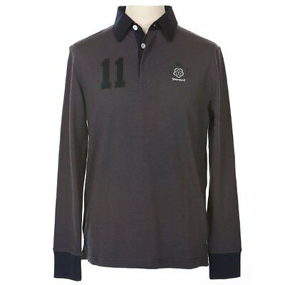 Townend Belmont Rugby Top - Charcoal/Navy - Small - Horse Equestrian Shirts