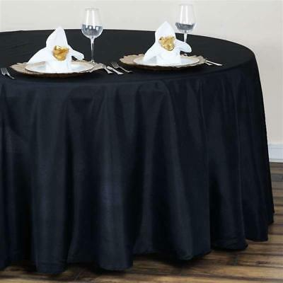 Black 120 in. Polyester Seamless Tablecloth~Wedding~NEW