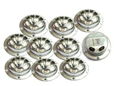 Brand New 12 Volt Flower Type Horn Chromed Finish Set Of 10 For Vintage Vespa Vb
